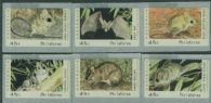 Australian Counter Printed Stamps Threatened Species Set of 6